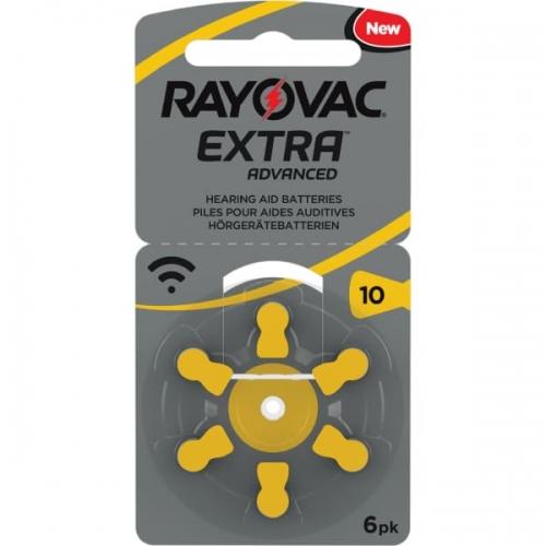 Klausos aparatų baterijos Rayovac Extra 10, 6 vnt-01