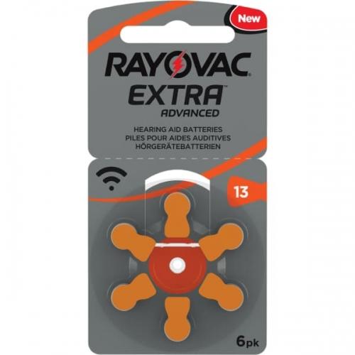 Klausos aparatų baterijos Rayovac Extra 13, 6 vnt-01