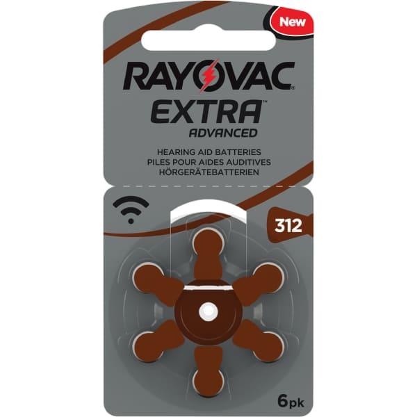 Klausos aparatų baterijos Rayovac Extra 312, 6 vnt-01