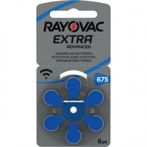 Klausos aparatų baterijos Rayovac Extra 675, 6 vnt-01