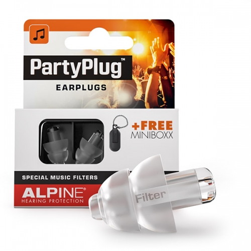 Partyplug apsauginiai kamštukai nuo muzikos, apsauga ausims, alpine
