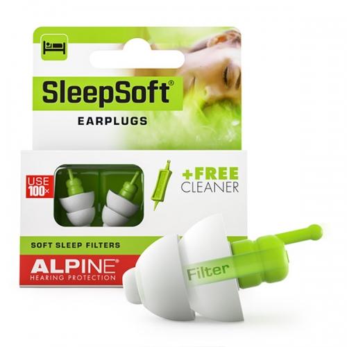 Apsauginiai kamštukai ausims, miegui, sleepsoft, alpine