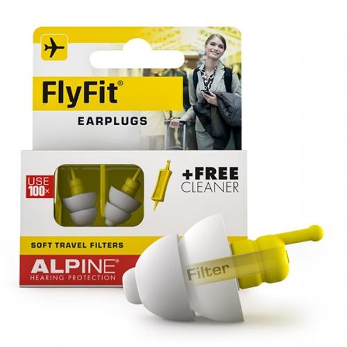 apsauginiai kamštukai ausims kelionės metu, alpine flyfit