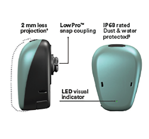 Baha 6 max garso procesoriaus 50% ilgesnis baterijos veikimo laikas