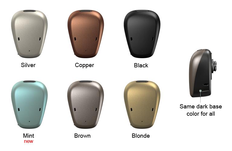 Garso procesoriaus Baha 6 Max spalvų pasirinkimas